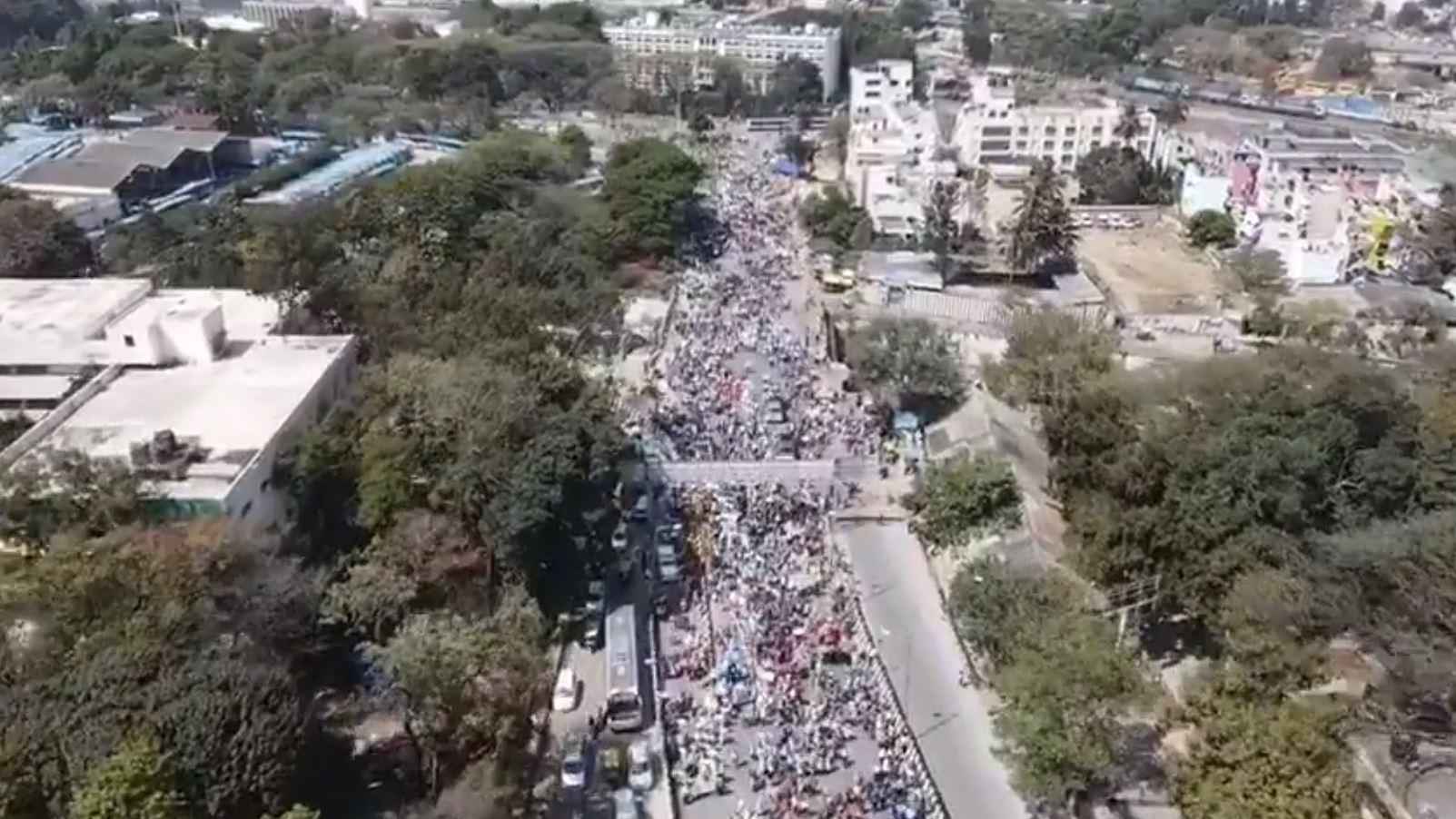 Karnataka private school teachers Stages protest in Bengaluru