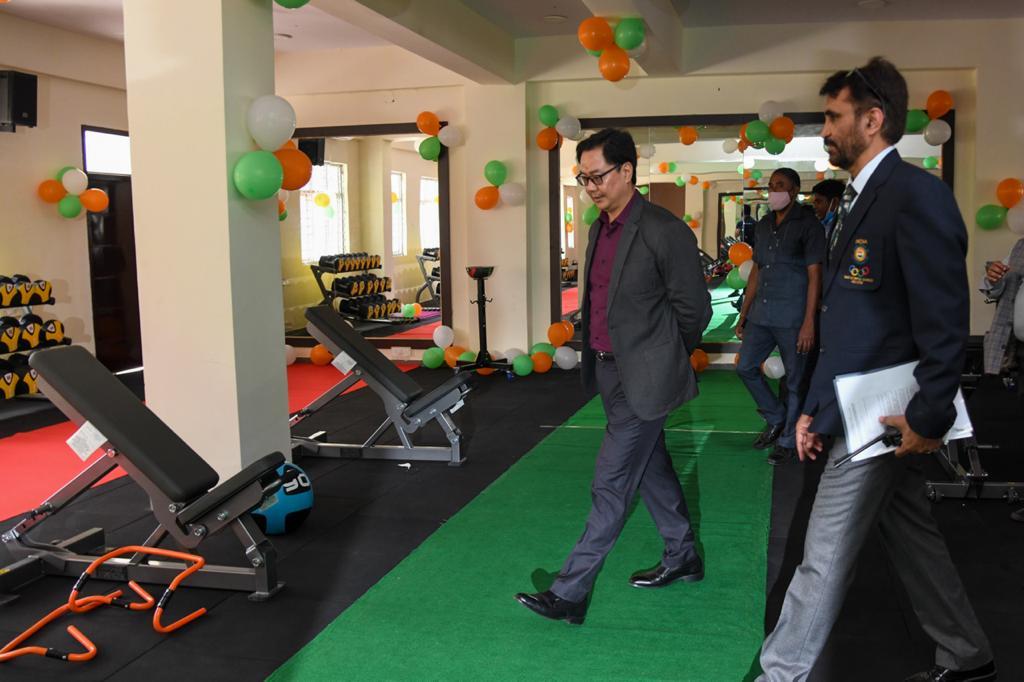 Union Sports Minister Kiren Rijiju launches four infrastructure projects at SAI Bangalore